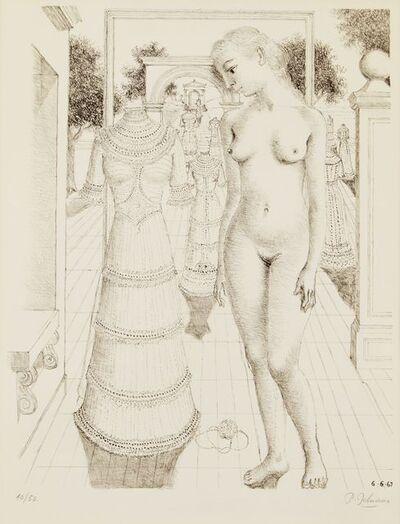 Paul Delvaux, 'Sunday Dress [Jacob 17]', 1967