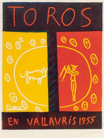 Pablo Picasso, 'Toros en Vallauris (Bulls in Vallauris)', 1955