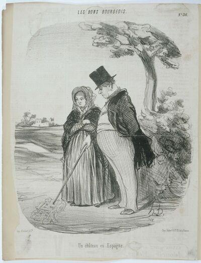 Honoré Daumier, 'Les Bons Bourgeois: Un Chateau en Espagne'