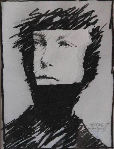 Ernest Pignon-Ernest, 'Rimbaud, Regards, Etude n° 7', 1986