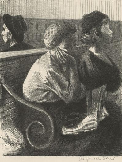 Raphael Soyer, 'Railroad Waiting Room', 1954