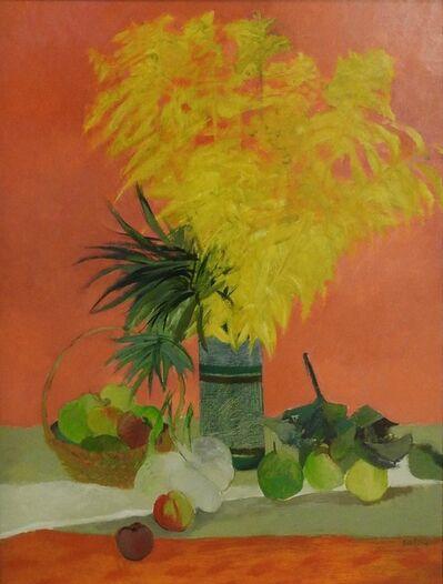 Guy Bardone, 'Grande nature morte rose et or', 1983