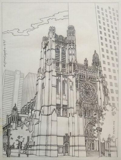 David Edward Byrd, 'St Thomas Church 5th at 53rd, from the 1975 Manhattan Coloring Book', 1975