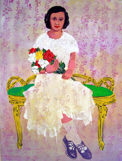 Mohamed Abla, 'Girl with Flower', 2004