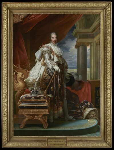 François-Pascal-Simon, called Baron Gérard, 'Portrait of King Charles X in Coronation Robes', 1825