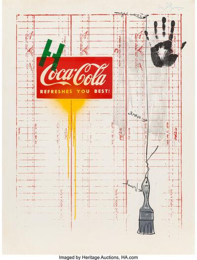 Jasper Johns, 'Untitled (Coca-Cola and grid)', 1971
