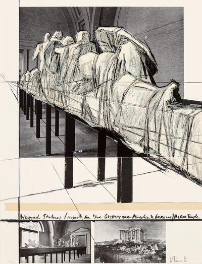 Christo, 'Aegina Temple - Project for the Munich Glyptotek, from Official Arts Portfolio of the XXIVth Olympiad, Seoul, Korea', 1988
