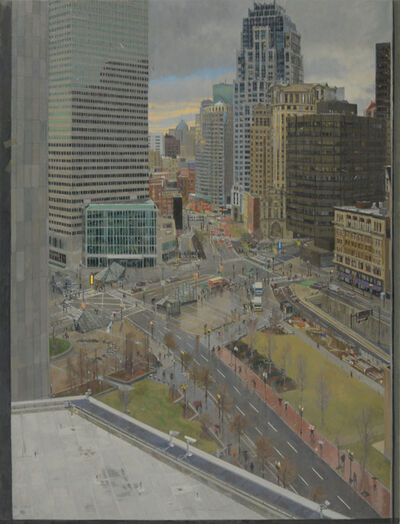 Richard Raiselis, 'Dewey Square in Silver Green and Gold', 2014