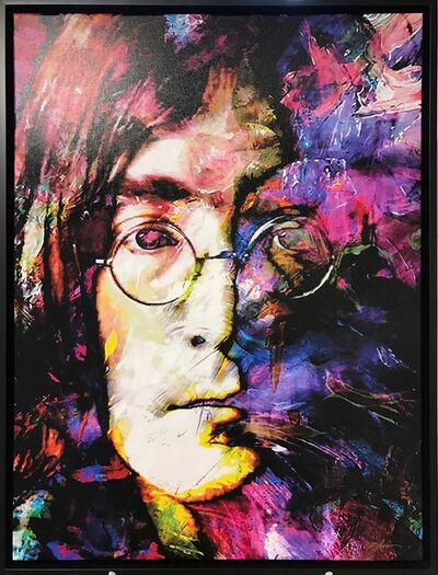 Mark Lewis (American, b. 1958), 'Limited Edition Giclee 'John Lennon Study 2 - John Lennon' Celebrity Pop Art, Famous People Artwork', 2017