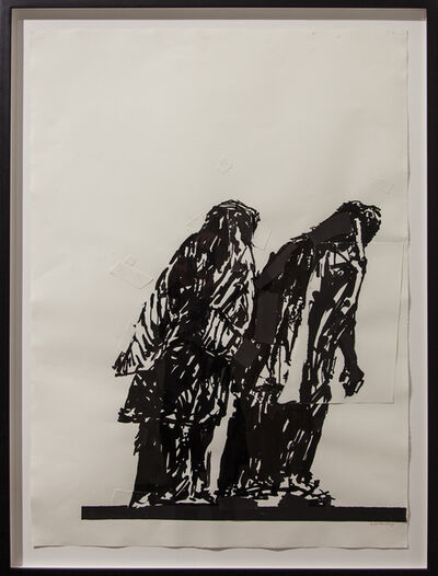 William Kentridge, 'Widows of Lampedusa II (drawing for Triumphs and Laments)', 2016
