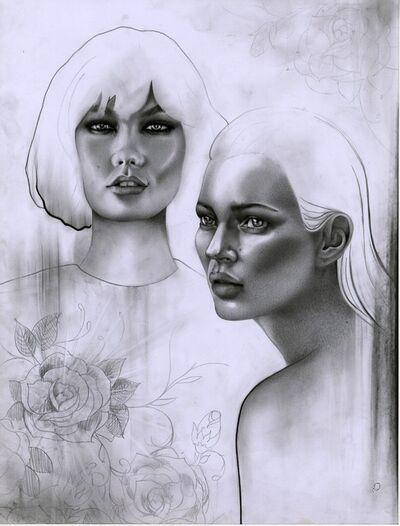 Bex Cassie, 'Kate Moss & Karlie Kloss', 2014