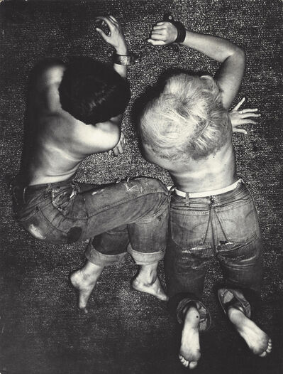 Jan Saudek, 'Man and Woman Laying', ca. 1960
