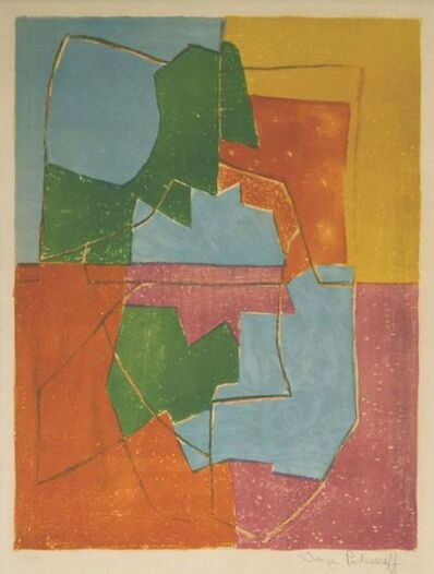 Serge Poliakoff, 'Composition in red, green, blue and yellow n°12 ', 1956
