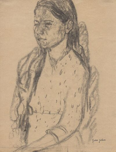 Gwen John, 'Three Quarter View of Girl Sitting', Probably executed in the 1920s