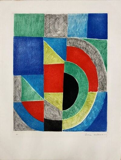 Sonia Delaunay, 'Carré Rouge ', 1968
