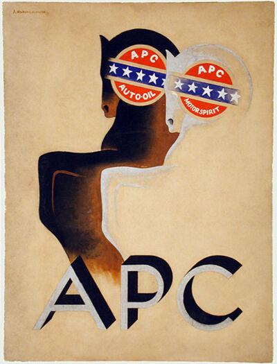 A.M. Cassandre, 'A P C - AUTO OIL - ORIGINAL ART WORK (MAQUETTE)', 1927