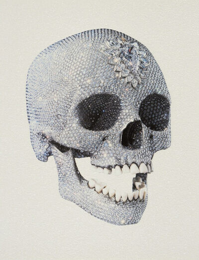 Damien Hirst, 'Love of God - white (skull 3/4 )'