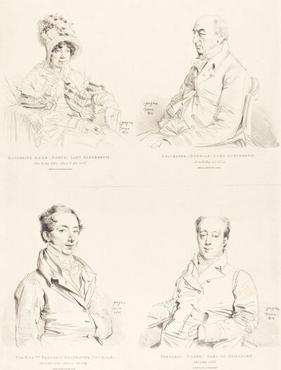 Jean-Auguste-Dominique Ingres, 'Sylvester (Douglas) Lord Glenbervie; Katherine Anne (North) Glenbervie; Frederic (North) Earl of Guilford; Frederic Sylvester Douglas', 1815