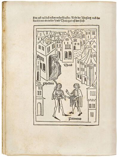 Master of the Ulm Terence, 'Publius Terentius Afer: 'Eunuchus'', 1486