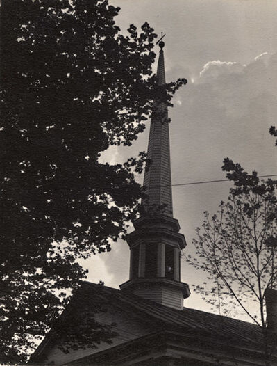 Dorothy Norman, 'Trees and Steeple, Falmouth, Cape Cod, MA', 1937/1937