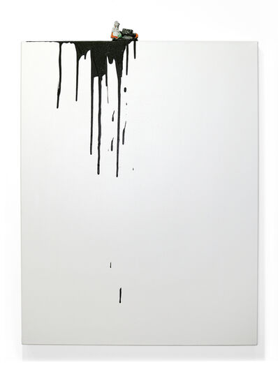 Liliana Porter, 'Black drips (Dutch girl)', 2019