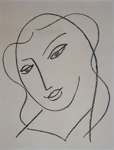 Henri Matisse, 'Veiled Head, from: Studies for the Virgin | Tête voilée: Études pour la Vierge', 1950