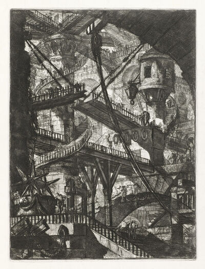 Giovanni Battista Piranesi, 'The Drawbridge, plate VII from the series Carceri d'Invenzione', 1745-printed later