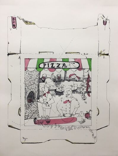Nic Mathis, 'Untitled (pizza box 3)', 2020