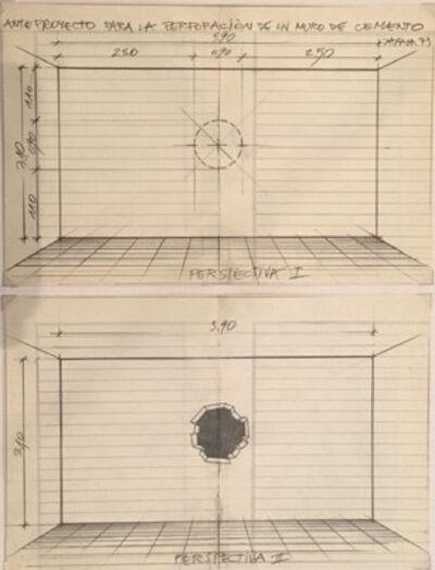 Horacio Zabala, 'Anteproyecto para la perforación de un muro de cemento', 1973