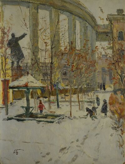 Aleksey Ivanovich Borodin, 'Paulov´s house courtyard', 1943