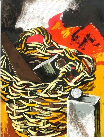 Renato Guttuso, 'Still Life with Basket and Saw', 1981
