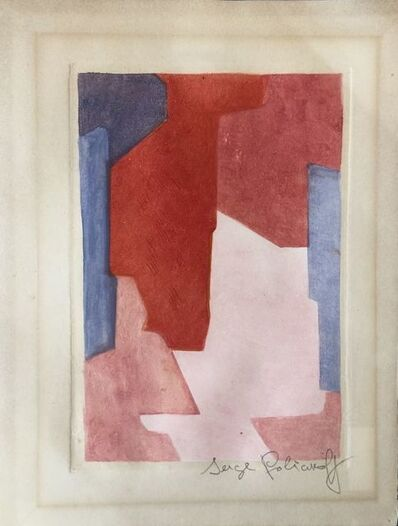 Serge Poliakoff, 'Composition in mauve, blue and red XXI', 1964