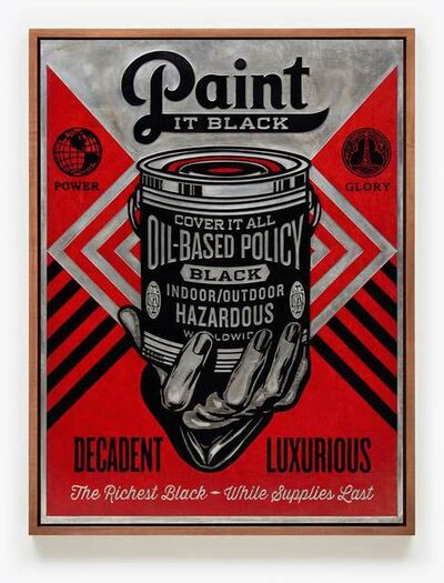 Shepard Fairey, 'Paint it Black (Hand), Plate', 2015