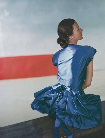 Horst P. Horst, 'Dorian Leigh, Dress by Henri Bendel, Small Size: Framed', 1946