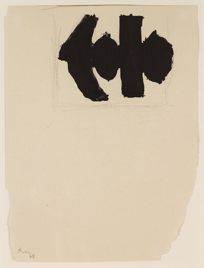 Robert Motherwell, 'Study for Elegy to the Spanish Republic No. 110B', 1968