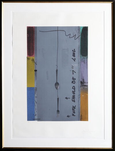 Jasper Johns, 'Screen Piece (Fork)', 1972