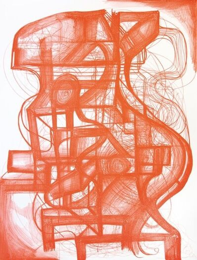 Joanne Greenbaum, 'Untitled red', 2000-2020