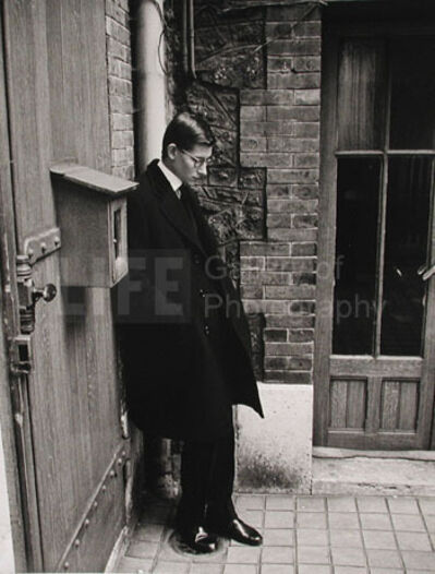 Loomis Dean, 'Yves St. Laurent after Attending  Christian Dior's Funeral', 1957