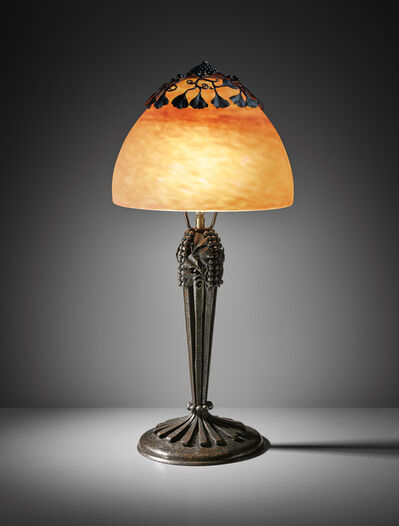 Edgar Brandt, 'Ginkgo table lamp', 1920s
