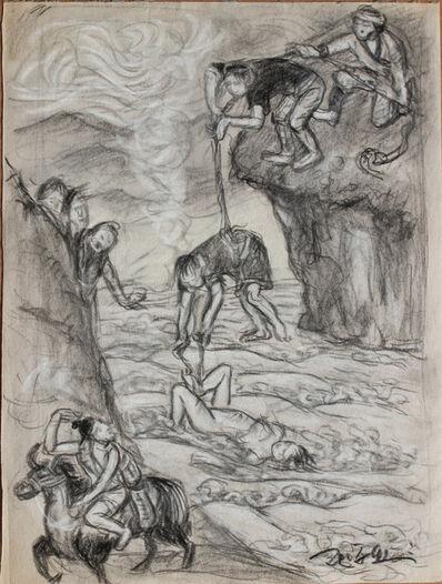Pei Zhuangxin, 'Sketch ⼿稿《唐卡中的傳說》', 2006