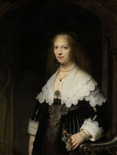 Rembrandt van Rijn, 'Portrait of a Woman, Possibly Maria Trip', 1639