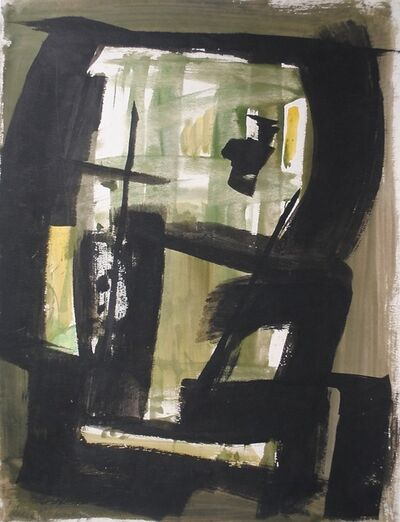 Dusti Bongé, 'Untitled (Black Squares with Green)', ca. 1960