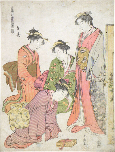 Katsukawa Shuncho, 'Modern Fashions from the East: Yasu', ca. late 1780s