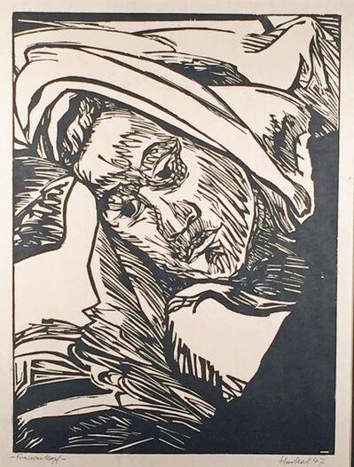 Erich Heckel, 'FRAUENKOPF (WOMAN'S HEAD)', 1947