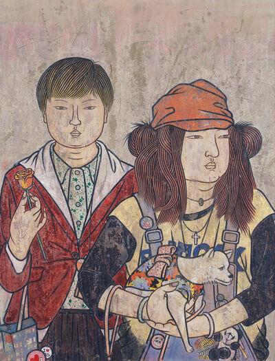 He Jian 何剑, 'Faces Series No. 25', 2010