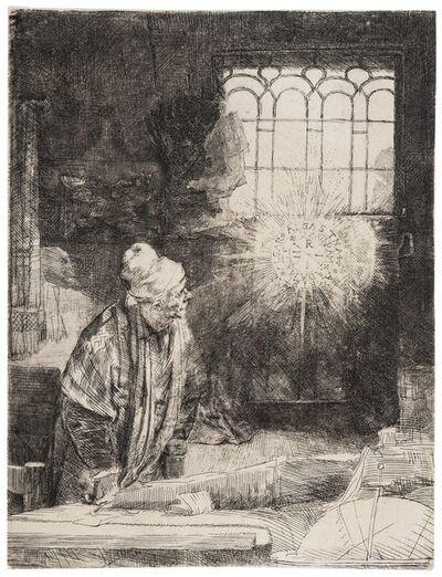 Rembrandt van Rijn, 'A Scholar in his Study ('Faust')'