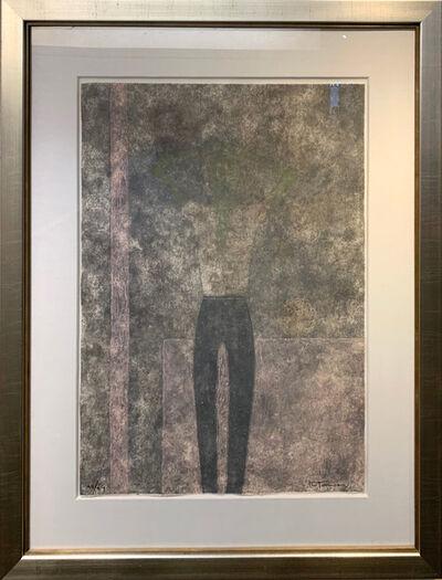 Rufino Tamayo, 'Hombre con brazos sobre la cabeza (P. 313)', 1980