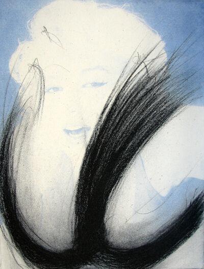 Arnulf Rainer, 'Marilyn Monroe – Blau', 2002