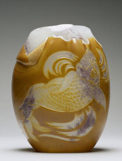 Eugène Rousseau, 'Carp Vase', 1878-1884