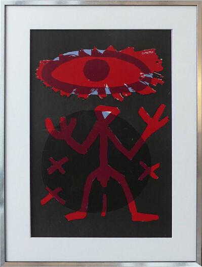 A.R. Penck, 'Standart Variation Rot Schwarz', 1994